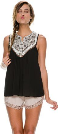Crochet front tank top. http://www.swell.com/New-Arrivals-Womens/SWELL-ORCHARD-CROCHET-FRONT-TANK?cs=BL