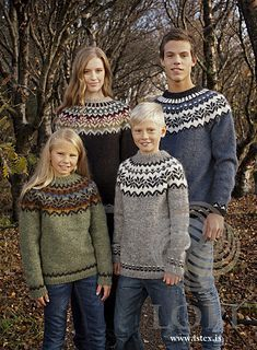 Baby Knitting Patterns combine Free knitting pattern for Amaelfi Icelandic Sweater for the Family – Védís Jó… Fair Isle Knitting Patterns, Sweater Knitting Patterns, Knitting Designs, Knit Patterns, Craft Patterns, Knitting For Kids, Free Knitting, Baby Knitting, Knitting Books