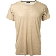 Balmain Taupe Silk T-Shirt ($230) ❤ liked on Polyvore featuring men's fashion, men's clothing, men's shirts, men's t-shirts, mens silk t shirts, j crew mens shirts, mens short sleeve shirts, mens silk shirts and mens crew neck t shirts