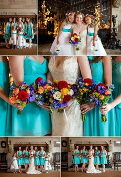 Gorgeous bride with her beautiful bridesmaids!