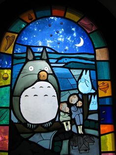 Inside the Ghibli museum.