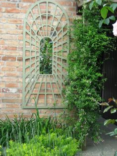 images of mirrows in a garden | PERSPECTIVE ARCH (LARGE MIRROR)