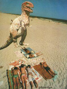 """Robert Funk """"Dinosaur at Beach 1978"""""""