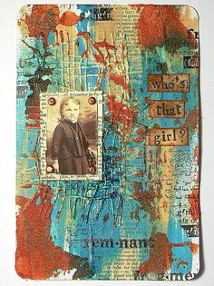 "DecoArt - Mixed Media Blog - Project - ""Who's That Girl"" Art Journal Card"