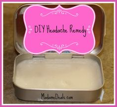 DIY Headache Relief Salve http://madamedeals.com/diy-basic-salve-home-remedy-headache/ #homemade #inspireothers