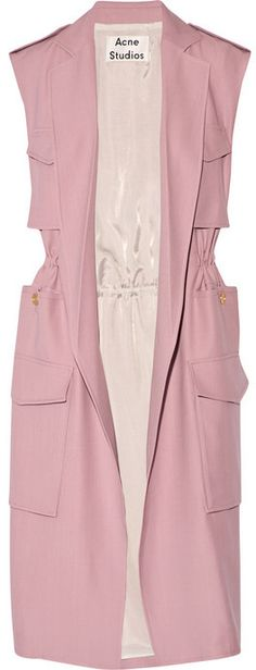 Acne Studios Sleeveless twill trench coat My Unique Style, My Style, Sleeveless Coat, Moda Emo, Coat Patterns, Fashion Outfits, Womens Fashion, Hijab Fashion, Classy Outfits