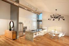 Concrete Kitchen Island Design, Pictures, Remodel, Decor and Ideas - page 7 Hvac Design, Küchen Design, House Design, Cement Design, Design Ideas, Dining Table Design, Modern Dining Table, Minimalist Dining Room, Minimalist Decor