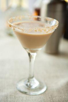 French Toast Martini from BettyCrocker: Irish cream, butterscotch schnapps, cinnamon schnapps, brown sugar rim