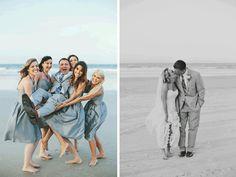 Grey Blue Daytona Beach Wedding by monikagauthier.com