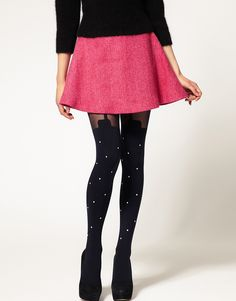 House of Holland For Pretty Polly Exclusive To ASOS Pearl Super Suspender Pearl Tights