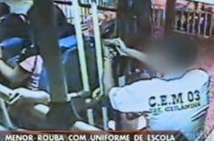 Galdino Saquarema Noticia: Menor com uniforme escolar e armado rouba ônibus no DF...