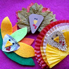 Three different easy DIY turkey pins for Thanksgiving fun.