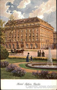 Early 1900s - Vintage postcard: Hotel Adlon