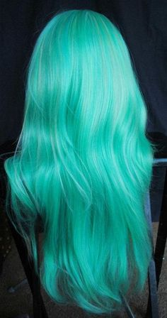 turquoise hair #bright #hair #neon #style