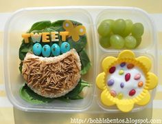 Baby Birds in a Nest Easter Bento in Easy Lunchboxes :)  Tweet Tweet!