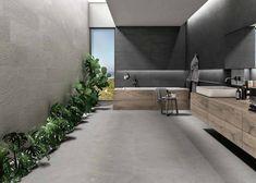 Norgestone - RNG Ceramics Modern Vanity, Modern Bathroom Design, Bathroom Designs, Wood Vanity, Marble Effect, Grey Bathrooms, Grey Stone, Porcelain Tile, Wall Tiles