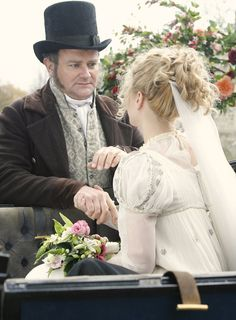 Hugh Bonneville as Mr. Claude Bennet and Morven Christie as Jane Bennet in Lost in Austen (TV Mini-Series, 2008).