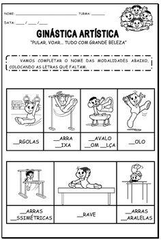 Dani Educar : Atividades olimpíadas - modalidades esportivas