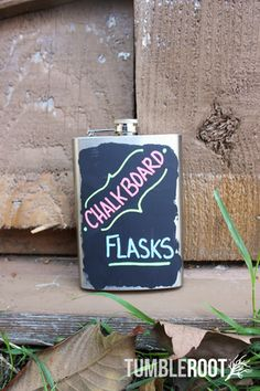 Hand-Painted Chalkboard Flask - 8oz  These could be a little too much fun for people.