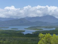 This photo is taken at Hinchinbrook lookout, on the way from Townsville to Cardwell, Queensland Australia