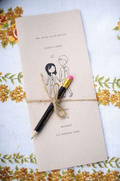 convites de casamento moderninhos