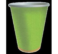 Vaso de cartón verde