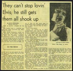 Elvis Newspaper Concert Review For his show in Louisville,KY. 6-26-74   Flickr - Photo Sharing!