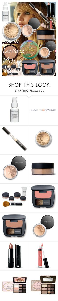 """""""Jennifer Lawrence Makeup Tutorial"""" by oroartye-1 on Polyvore featuring beauty, Bare Escentuals, Chantecaille, Too Faced Cosmetics and Rimmel"""