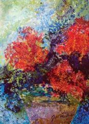 North Carolina artist Jill Troutman. Photo of artwork.