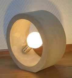 ringleuchte - ringstufenlos x 12 cm - - New Ideas Cement Art, Concrete Cement, Concrete Furniture, Concrete Crafts, Concrete Design, Plywood Furniture, Diy Storage Projects, Concrete Light, Beton Design