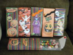 Halloween treat boxes  for candy, pencils, or other little goodies