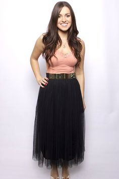 Black Tulle Skirt This outfit!