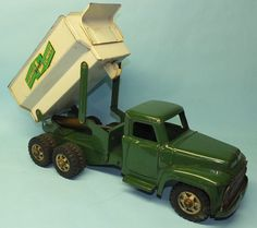 VINTAGE BUDDY L HYDRAULIC DUMPER DUMP TRUCK PRESSED STEEL CONSTRUCTION TOY | Toys of Times Past