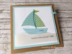 Invitation Design, Invitations, Nautical Cards, Spring Summer Trends, Exotic Flowers, Masculine Cards, Baby Cards, Stampin Up, Card Making
