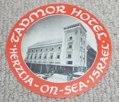 Other Advertising Collectables Vintage Hotels, Luggage Labels, Vintage Luggage, Israel, Advertising, Sea, Ocean, Commercial Music