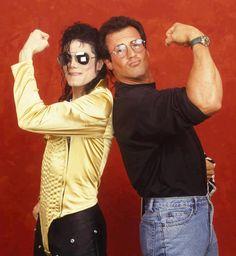 Michael Jackson & Stallone