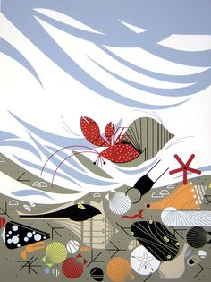 Charley Harper is an artist that was introduced to me by my mom. She has been an admirer of his for a long time and when she bought his retr...