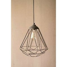 The handsome Geometric Wire Pendant features a classic light, crafted with a modern, sophisticated open weave design. This hanging fixture is ideally suited for the entry, hallway, kitchen, dining room, bedroom, bathroom or outdoor living area.