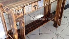 Recycled Pallets Vintage Entryway Table Idea