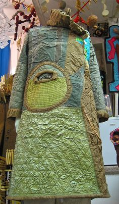 Dragon Coat 2007 by Danny W Mansmith - beautiful greens and richly textured surface.  Wow