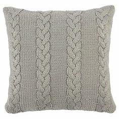 Scandi Cable Knit Cushion Grey