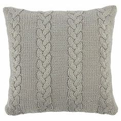Scandi Cable Knit Cushion Grey