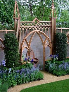 a gate doesn't have to be a gate.  :) garden decoration...