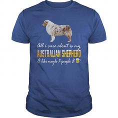 Awesome Australian Shepherd Lovers Tee Shirts Gift for you or your family your friend:  Australian shepherd 3 people and beer Tee Shirts T-Shirts