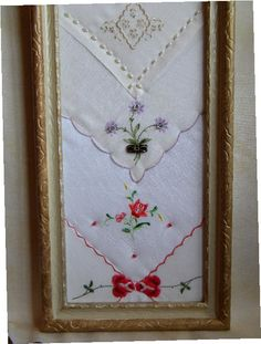 Antique Spite Frame containing a Sampler of by twinlyonsgiftshop