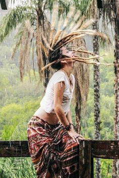 Dreadlocks in the rain!
