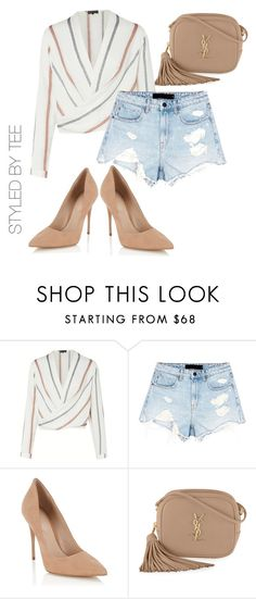 """""""Untitled #157"""" by toniannfratianni on Polyvore featuring Alexander Wang, Lipsy and Yves Saint Laurent"""