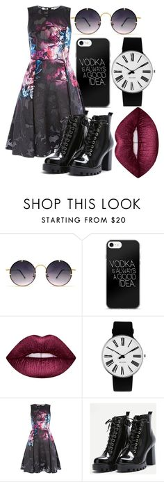 """""""Night out"""" by the-mad-hattess on Polyvore featuring Spitfire, Lime Crime and Rosendahl"""