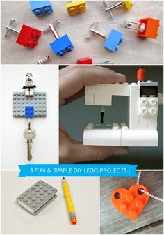 8 New Uses for Christmas LEGOs I did the cuff-links as I thought it would make the adult guys remember being kids.