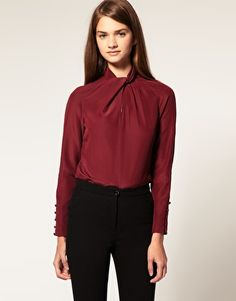 ASOS Blouse With Twist Neck